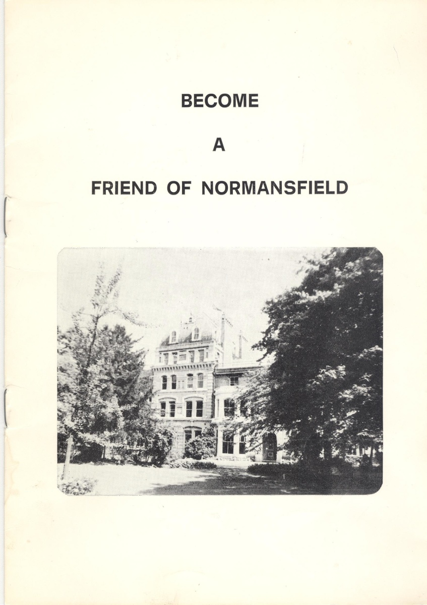 Friends of Normansfield NHS Booklet cover