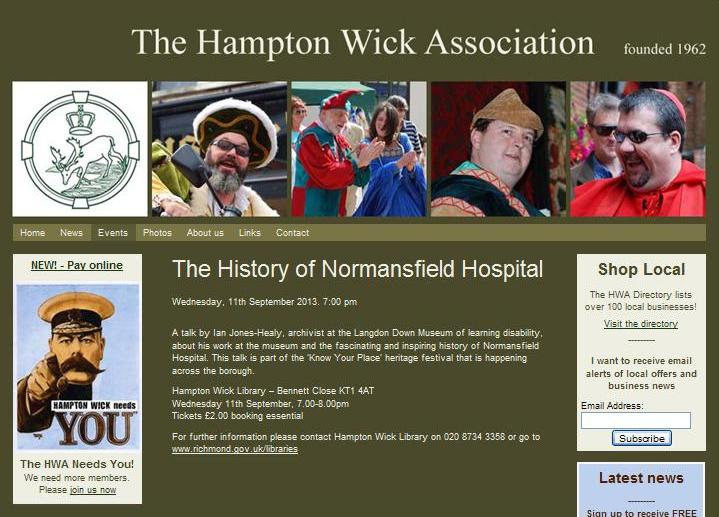 Hampton Wick Talk