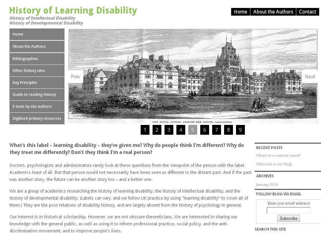 History of Learning Disability