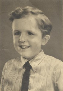 Tony Hudson 1 Aged 6 to 7 years photo hung above his mothers bed